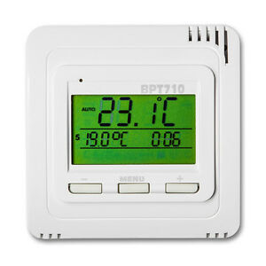 thermostat raumthermostat heizk rper fu bodenheizung digital temperatursensor ebay. Black Bedroom Furniture Sets. Home Design Ideas