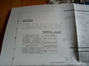 CIMARRON-SHUFFLE-ALLEY-SCHEMATIC-PHOTOCOPY-BY-UNITED-WILLIAMS-1970