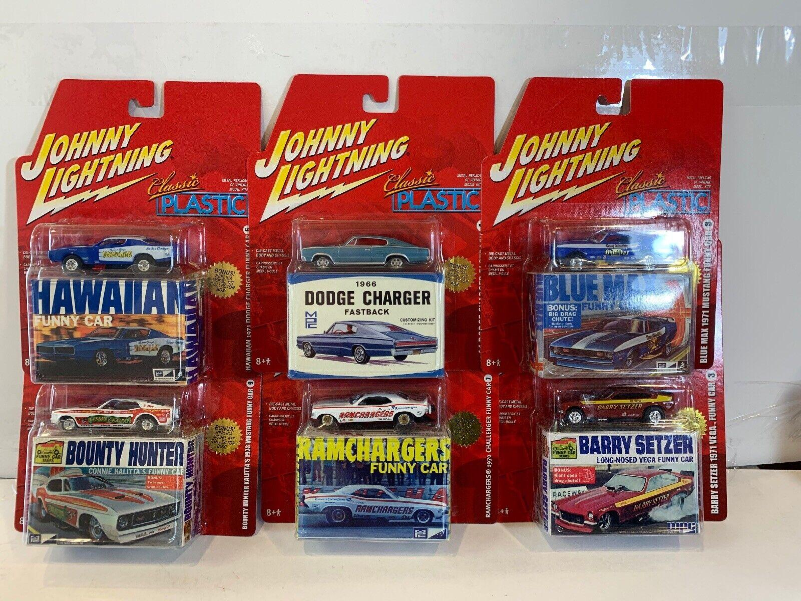 Lot Of 6 New Sealed JOHNNY LIGHTNING CLASSIC PLASTIC Dies Cast Cars
