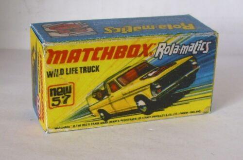 REPRO BOX MATCHBOX Superfast Nº 57 WILD LIFE TRUCK giallo box