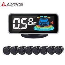 Car parking sensor with 8 sensors colorful LCD Buzzar alarm waterproof Sensor