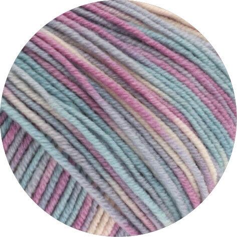 lana Grossa-Cool wool print-FB Lana creativo 792 gris//mint//lilas 50 G