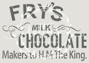 VINTAGE ADVERTISING A4 STENCIL FRY/'S CHOCOLATE Furniture Easter 190 MYLAR 02