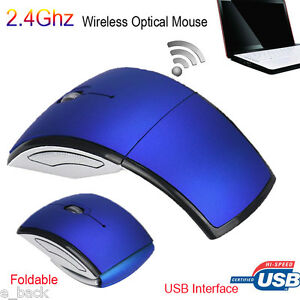 USB Receiver For PC Laptop-US 2.4GHz Arc Optical Foldable Wireless Mouse Mice