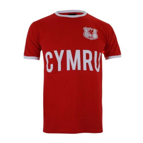 Toffs Wales Football Soccer Ringer T-Shirt Red
