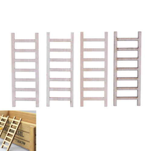 4pcs DIY Gift Dollhouse Miniature Wood Stairs Toy  Garden Fairy Home Decors Pip