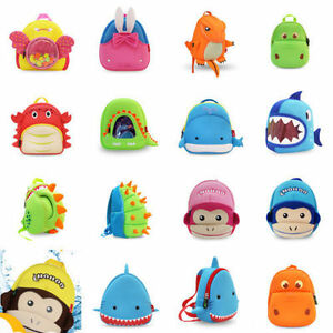 Kids Waterproof Toddler Backpacks Cute Cartoon Animal Boy Girl Pupils Schoolbags