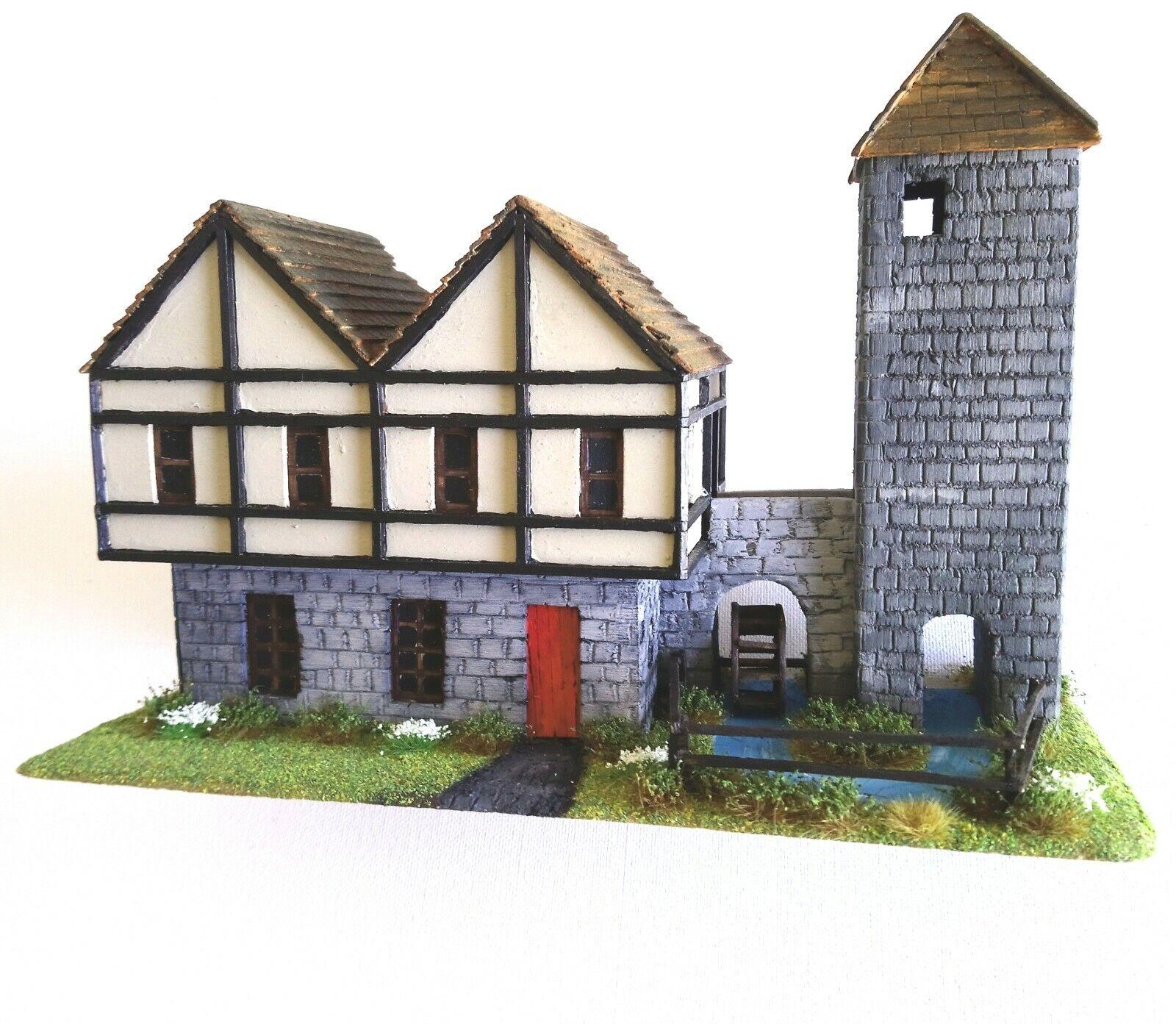 Paisaje Pintado A casa edificio Molino warJuego Modelo wargaming Juegos De Mesa