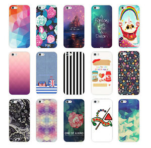 HOT-TPU-Bright-Various-Pattern-Soft-Back-Case-Cover-For-iPhone-5-5S-6-6-plus