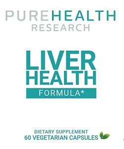Liver Health Formula Supplement Pure Health 60 Capsules