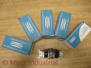Leviton 5244 Single Pole Switches (Pack of 5)