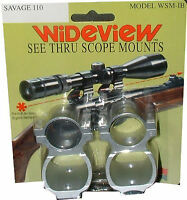 Wideview See-thru Scope Mount Savage 112 116 Silver
