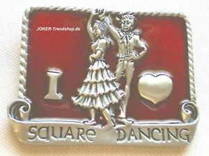 66c362113e796f Das Bild wird geladen  Guertelschnalle-I-love-Square-Dancing-Buckle-Line-Dance-
