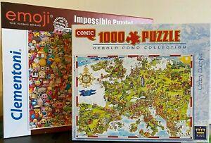 Jigsaw-Puzzles-Emoji-Impossible-Puzzle-Crazy-Europe-Jeux-famille-1000-Pieces