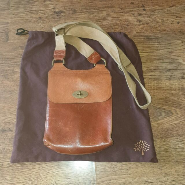 Genuine Mulberry OAK Antony Messenger Bag with dust bag 17444f2500d83