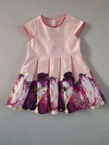5a2502e3d63c88 Designer TED BAKER Baby Girls Pink Floral Dress  6-9 Months   EUR 74 ...