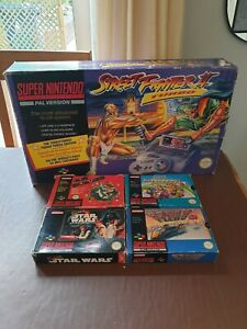 Super Nintendo NES Console Street Fighter II Turbo Edition SNES Boxed PAL