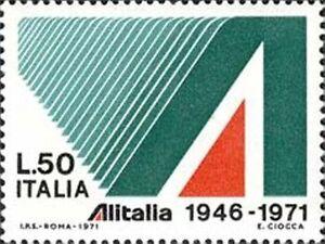 ITALIA-ITALY-1971-50-Lire-25-Alitalia-Avion-Airplane-Stamp-MNH