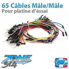 Lot de 65 câbles mâles pour platine d'essai -M/M(Jumperwire-Breadboard-Arduino)