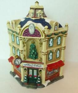 Jewelry-Shop-Grandeur-Noel-Christmas-Victorian-Train-Village-Store-2001