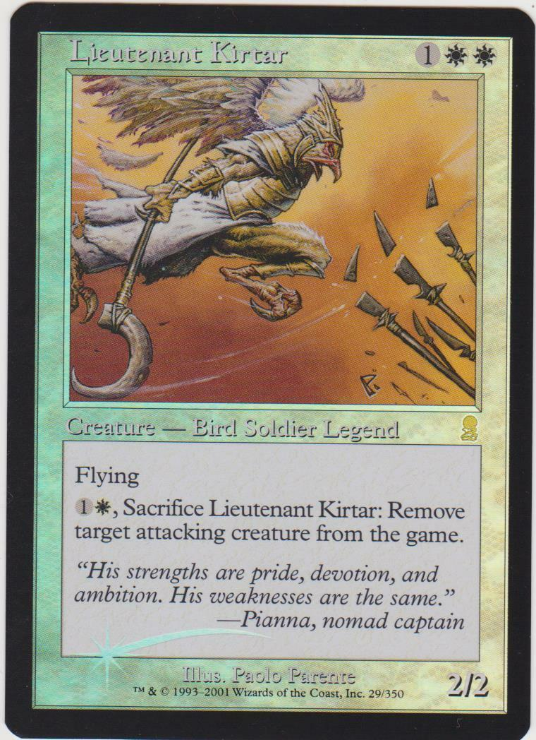 Foil Lieutenant Kirtar - - - Odyssey MTG a7f0f3