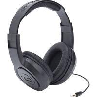 Samson Sr350 Over Ear Stereo Closed Black Studio Monitoring Music Headphones