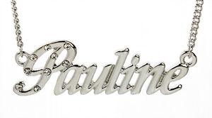 collier prenom pauline
