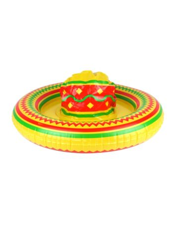 4//8//12//16 Inflatable Sombrero Hat 53cm Mexican Fancy Dress Bandit Accesory Prop