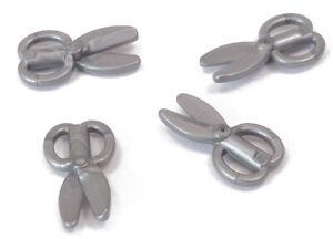 LEGO-4-x-Schere-silber-Flat-Silver-Scissors-18920-NEUWARE