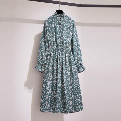 Women/'s Dress Ladies Dress Autumn Midi Stylish Loose Sundress A-Line Long Sleeve