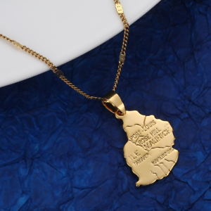 Gold Pakistan Necklace Pendant /& Chain Flag Stainless Steel
