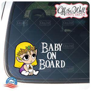Baby-Zelda-034-BABY-ON-BOARD-034-Vinyl-Car-Decal-Sticker