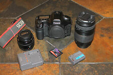 Canon EOS 5D 12.8MP DSLR with EF 50MM and Quantaray 70-300mm lenses