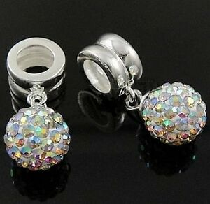Boule-Disco-8mm-Solid-925-Sterling-Argent-amp-Autriche-Crystal-Charm