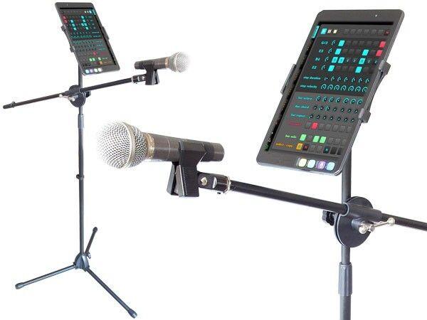 Handyhalterung + Mikrofonständer Universal Smartphones Tablet PC Standardgewinde