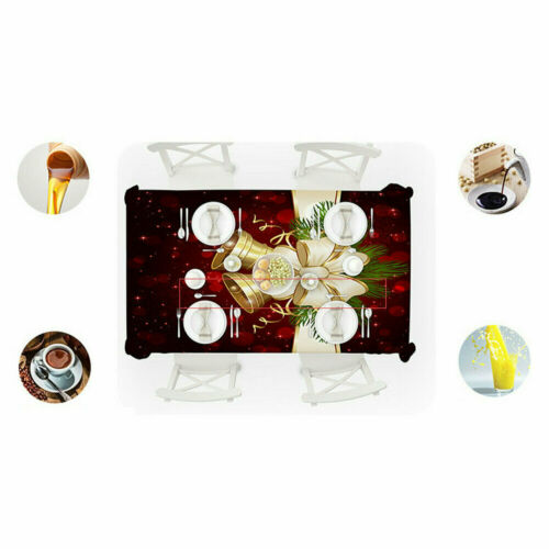 Home Decor Christmas Tablecloth Rectangle Dining Table Cloth Cover Xmas Party
