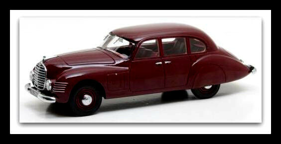 Wonderful modelcar HORCH 930S STREAMLINE 1948 - darkrosso darkrosso darkrosso - scale 1/43 - lim.ed, 8a83b0