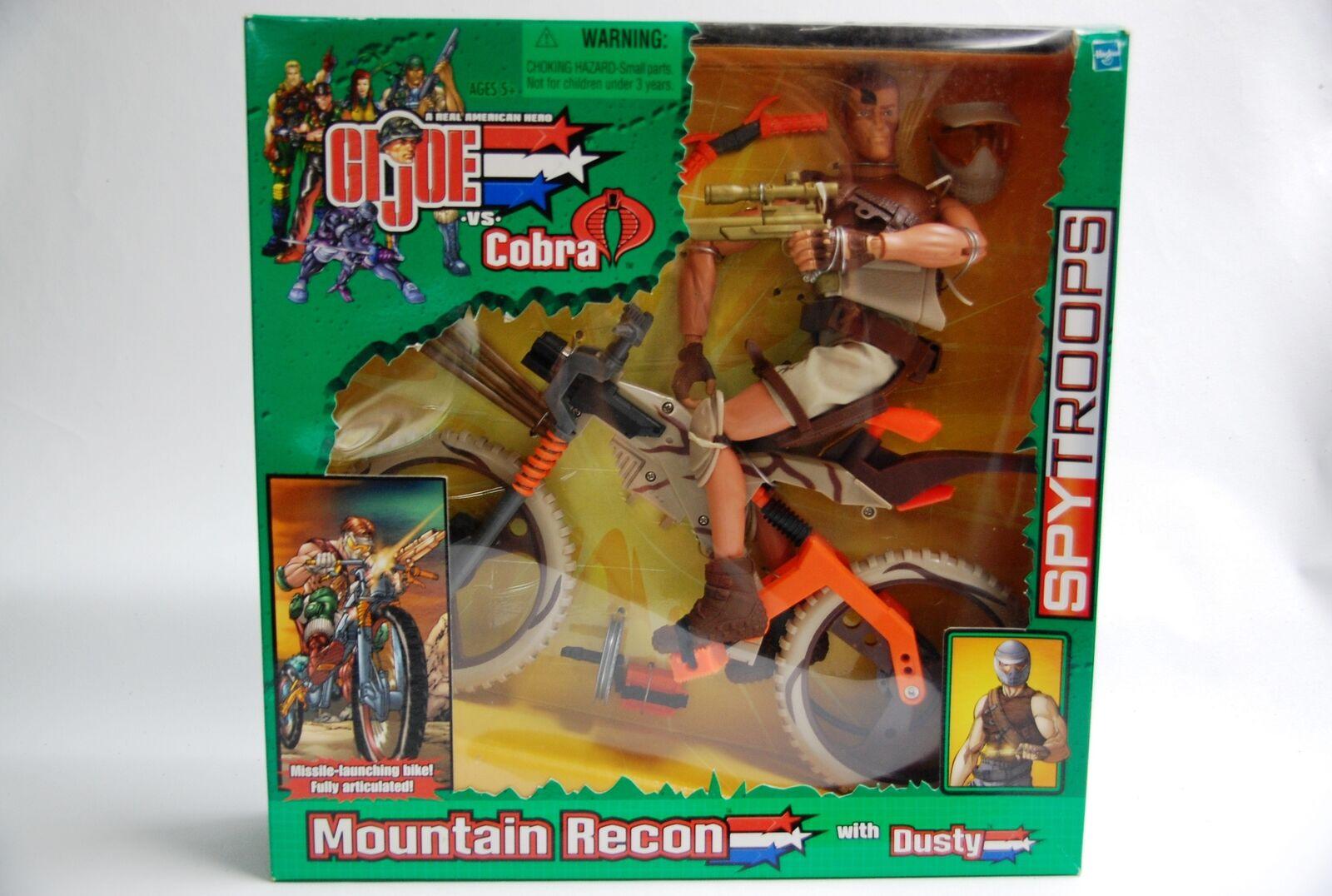 Hasbro GI Joe vs Cobra Spy Troops Mountain Recon Dusty 2003 Green Tag Sample