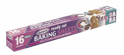 16 Fogli Di Cottura Pronto Taglio 37x42cm Ogni Cuocere Biscotti Torte Cucina Avvolgimento Uk- Per Godere Di Alta Reputazione Nel Mercato Internazionale