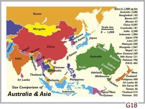 Map Of Australia On Europe.Details About 28 Map Postcards Of Australia Vs Europe And Australia Vs Asia