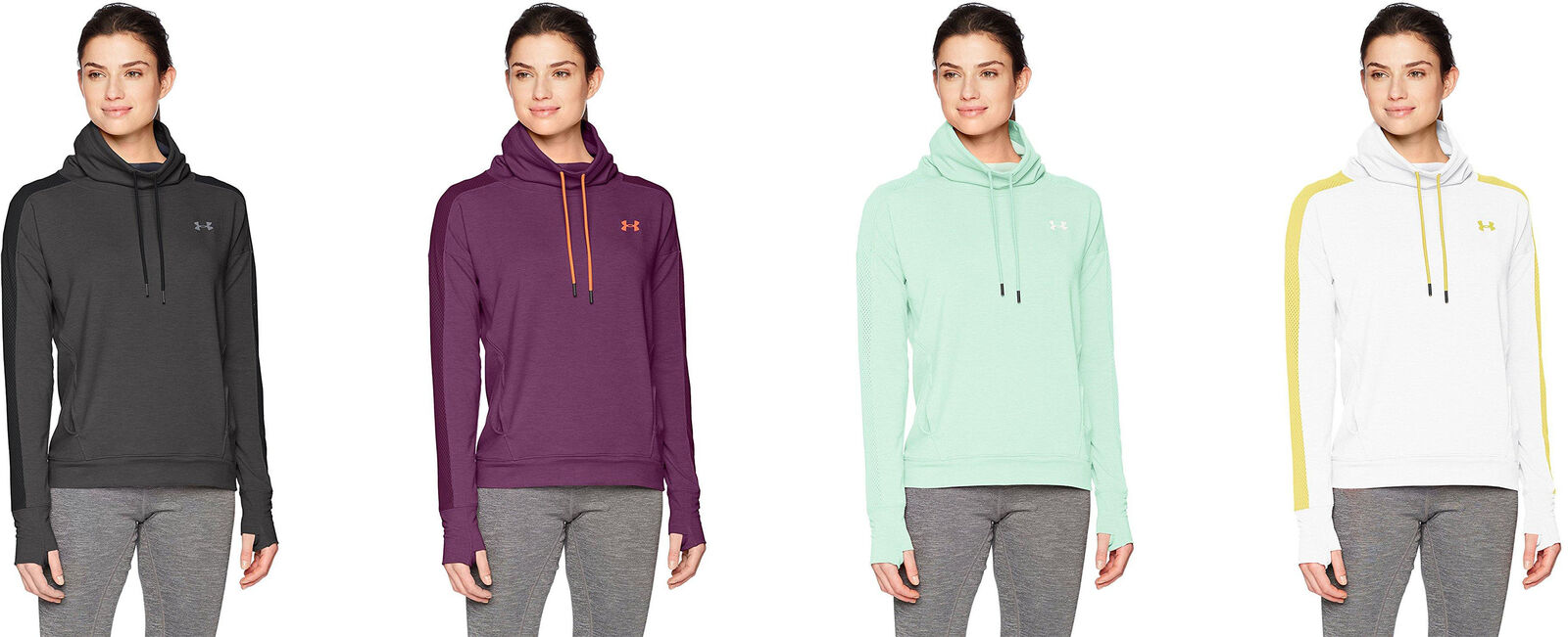 df56729872 Under Armour Women's Featherweight Fleece Funnel Neck, 5 Colors | eBay