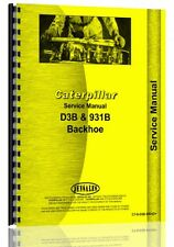Caterpillar 931b D3b Service Manual Ct S D3b Bkho