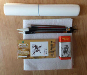 Chinese Art Supply Set for Chinese Painting, Art Meditation and Mixed Media