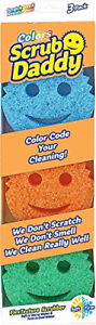 Scrub Daddy Scratch Free Color Sponge with Flex Texture 3 Pack 3 Pack