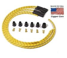 Yellow Cloth Spark Plug Wires For Minneapolis Moline Tractor