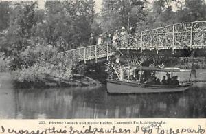 Electric-Launch-amp-Rustic-Bridge-Lakemont-Park-Altoona-PA-1908-Postcard