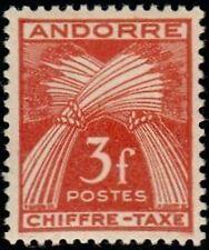 """ANDORRA FRANZÖSISCH BRIEFMARKE STEUER Nr. 27 """" CHIFFRE-TAXE 3F """" NEU x TB"""