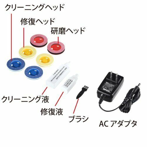 NEW Sanwa disc repair machine grinding type CD-RE2AT Japan Import With Tracking
