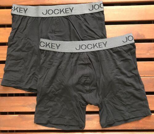 Jockey Homme 3D Innovations Boxer tronc 2215912P-999 2 Pack - Noir-Large
