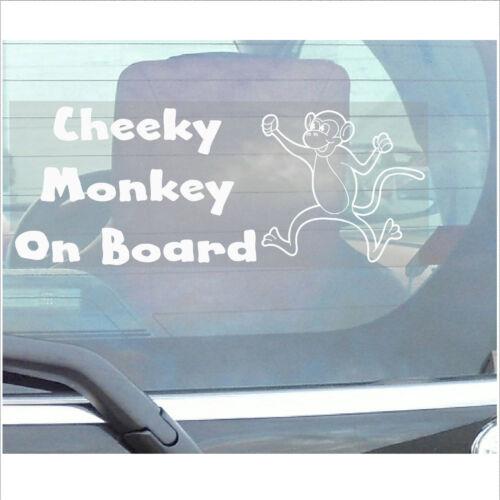 Cheeky Singe À Bord Sticker-car Van Camion Véhicule Adhésif Fenêtre Signe